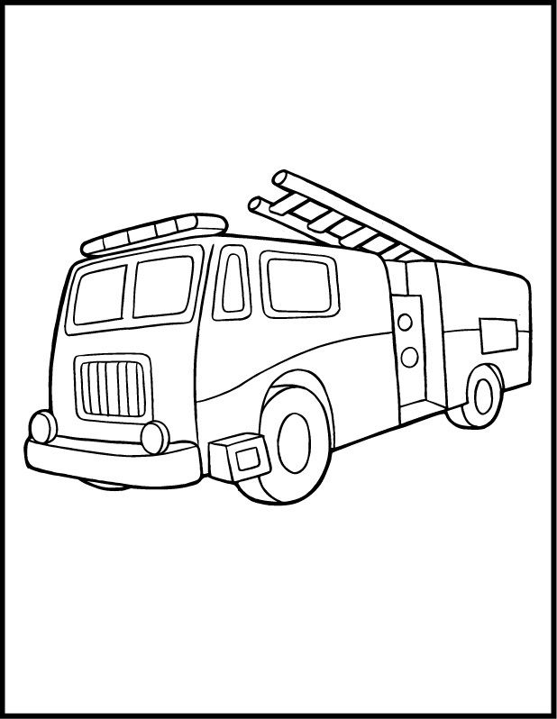 Vehicle Coloring Pages Pdf : Free printable fire truck coloring pages for kids az