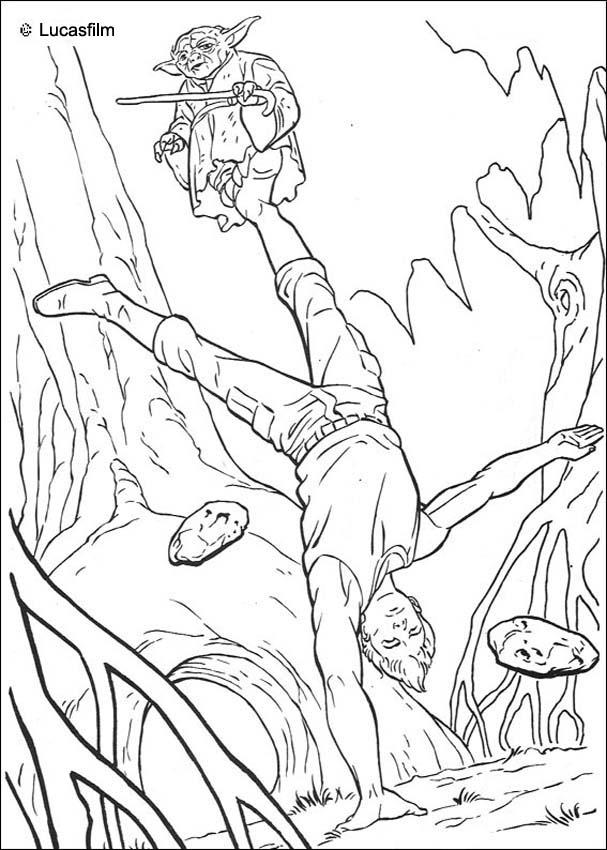 LUKE SKYWALKER Coloring Pages - Jedi Training - Coloring Home