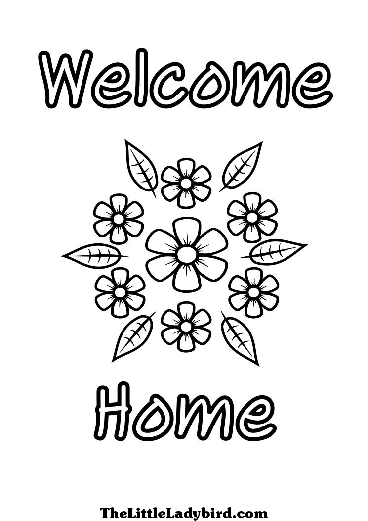 Free Wele Home Coloring Pages Coloring Home