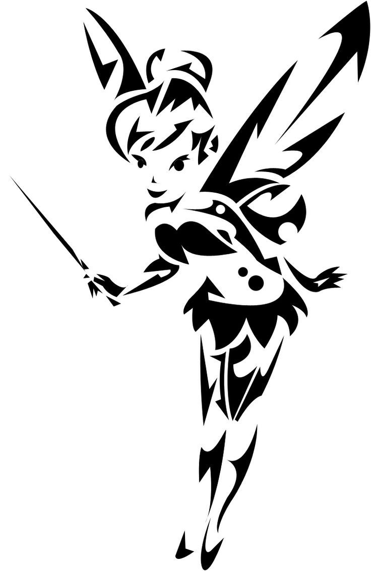 emo tinkerbell coloring pages - photo#10
