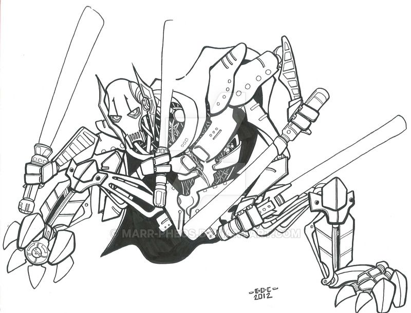 general grievous coloring sheet pages - photo#9