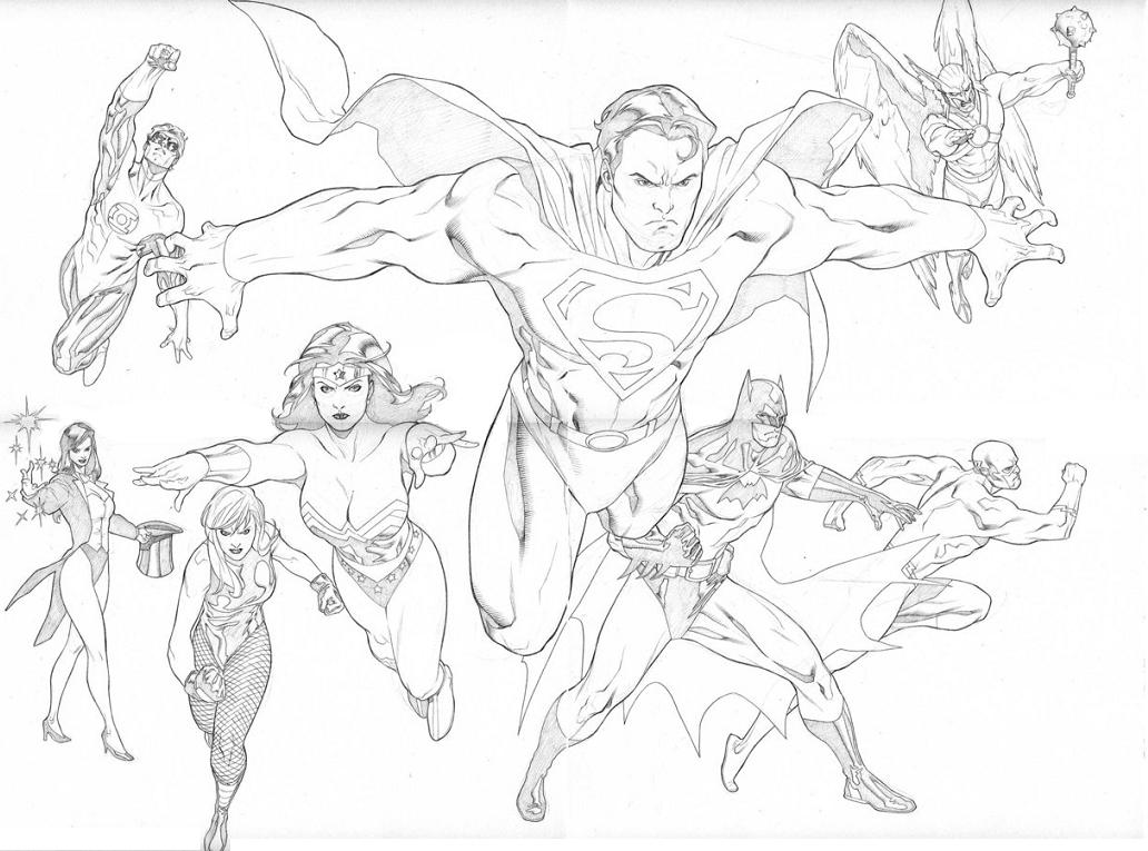 coloring pages and justice league - photo#10