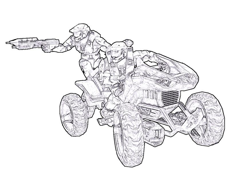 Halo color pages coloring home for Halo master chief coloring pages