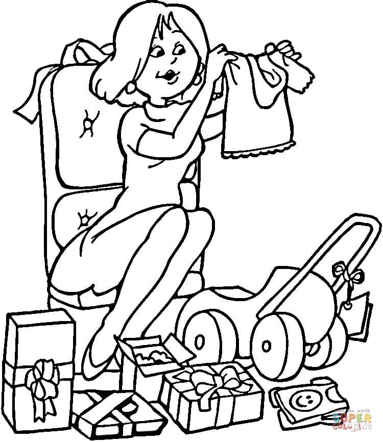 free coloring pages baby shower - photo#7