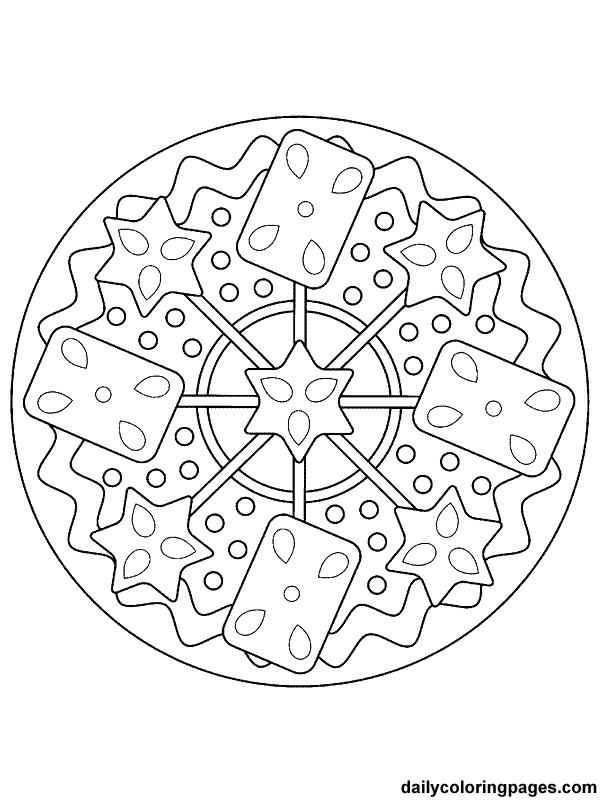 christmas mandala coloring pages - photo#26