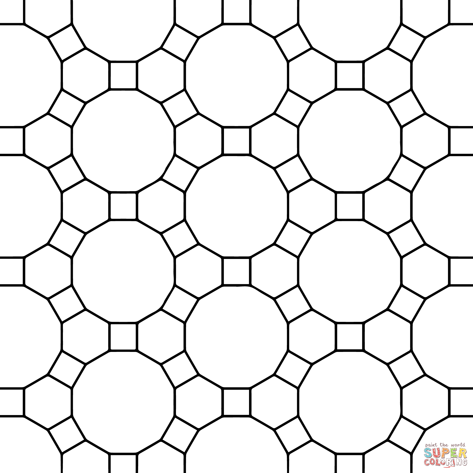 Tessellation Coloring Pages Printable - Coloring Home