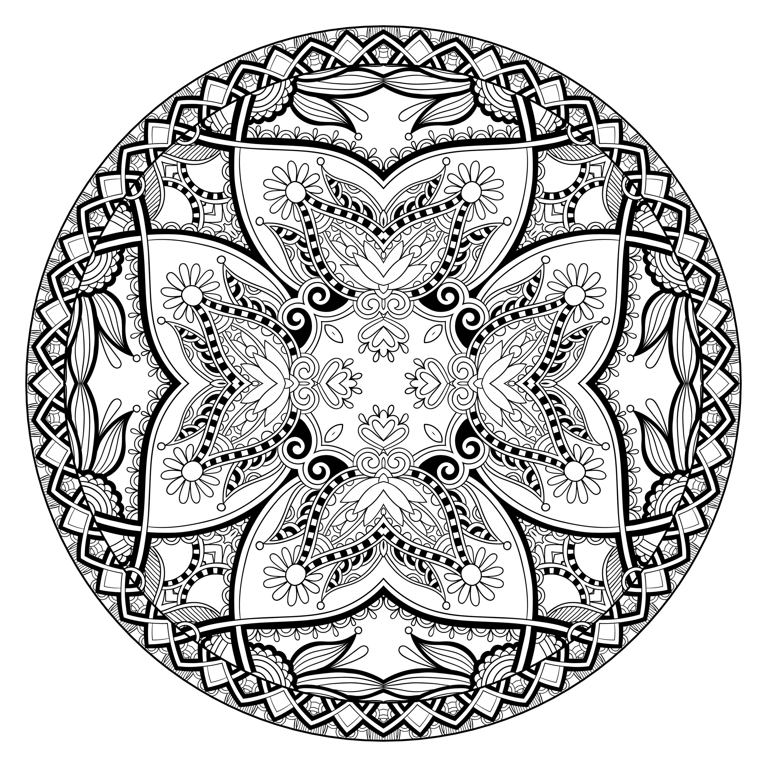 Mandala Coloring Pages Advanced Level Printable - Coloring ...