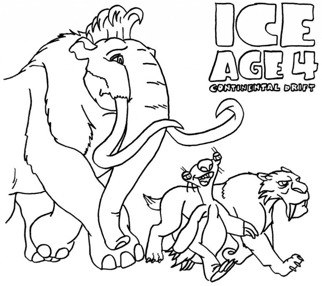 Colouring Pages Ice Age : Ice Age Ellie Coloring Pages AZ Coloring Pages