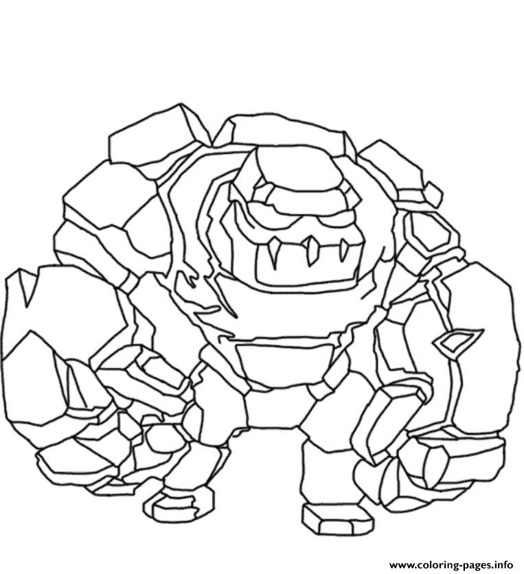 Golem Clash Of Clans Coloring Pages Printable Coloring Home