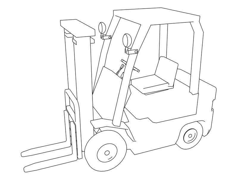 Forklift Coloring Page | Coloring pages, Coloring sheets for kids, Bible  coloring