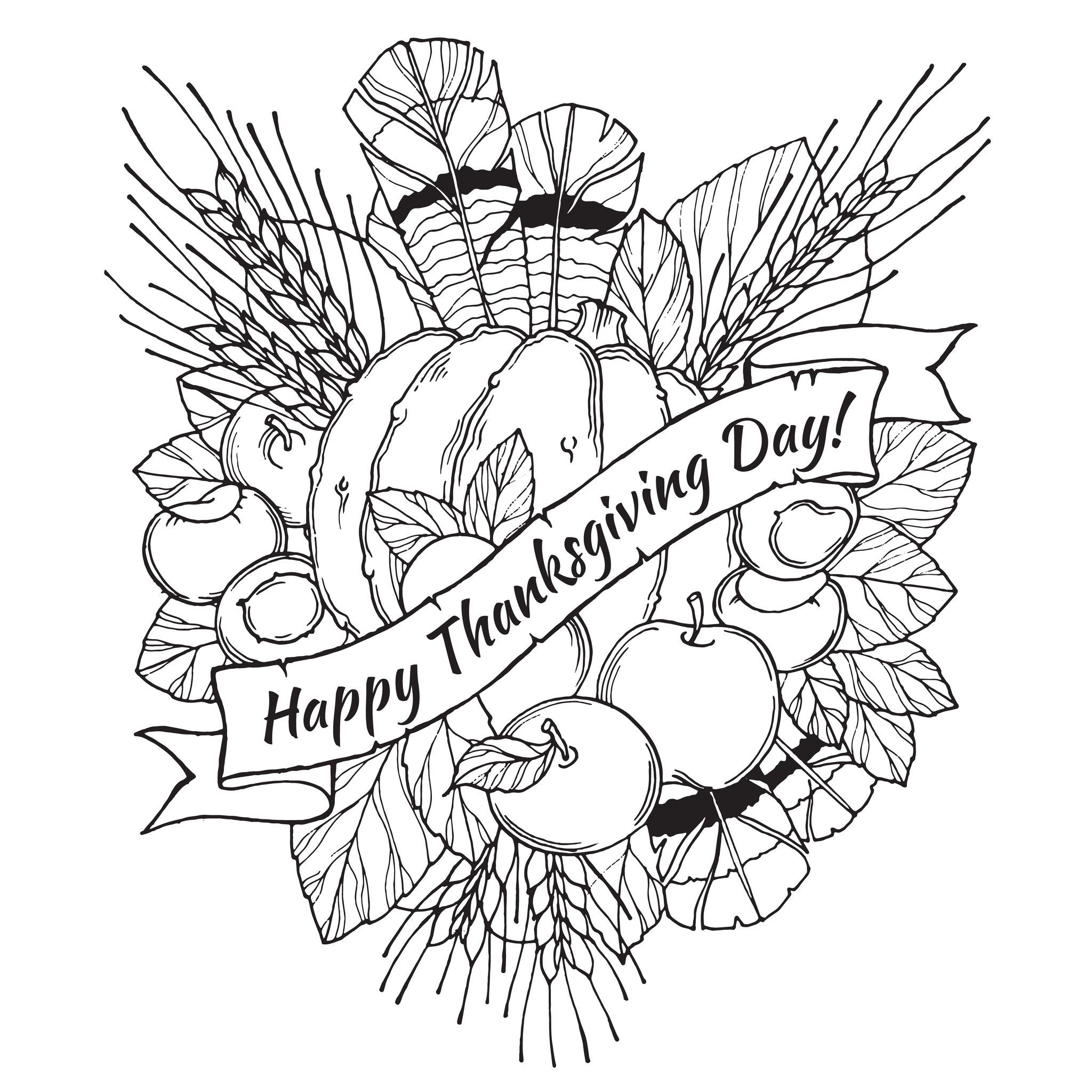 free coloring pages for thanksgiving - photo#26