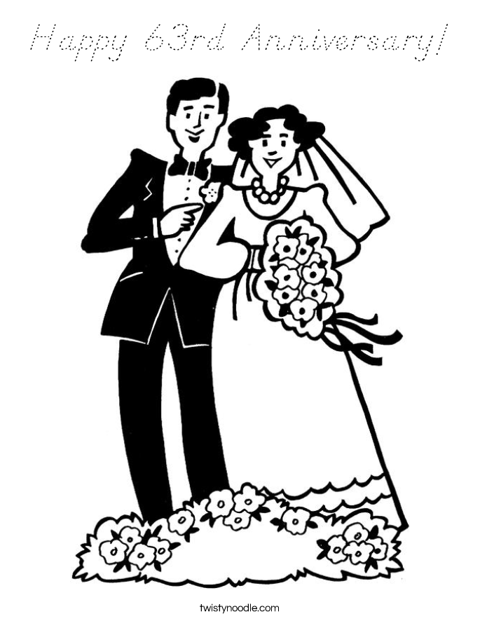 Happy Anniversary Mom And Dad Coloring Pages Sketch Coloring Page ...