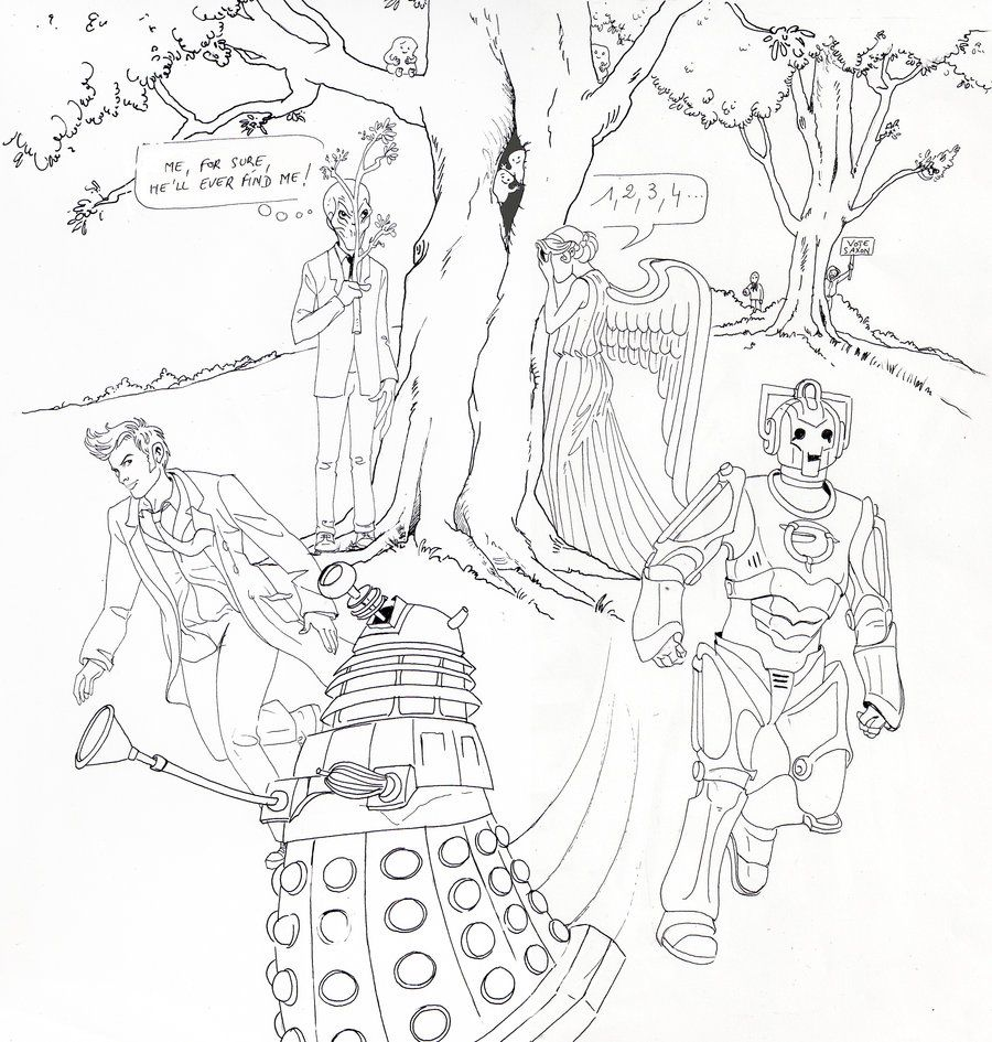 tenth doctor coloring page doctor who adult coloring books - Doctor Who Coloring Book