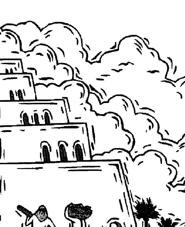 Tower of Babel Reach the Sky Coloring Page: Tower of Babel Reach ...