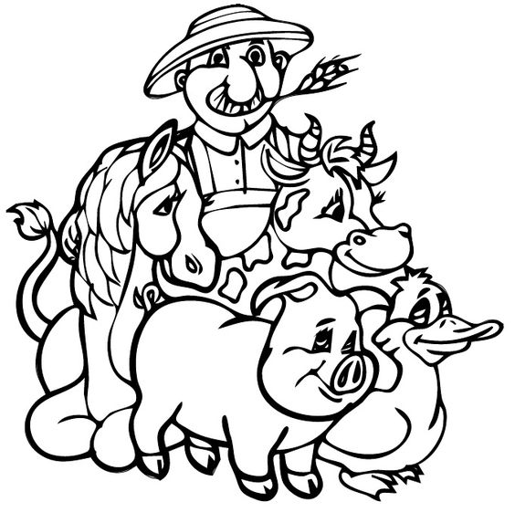 old mcdonald coloring pages - photo#1
