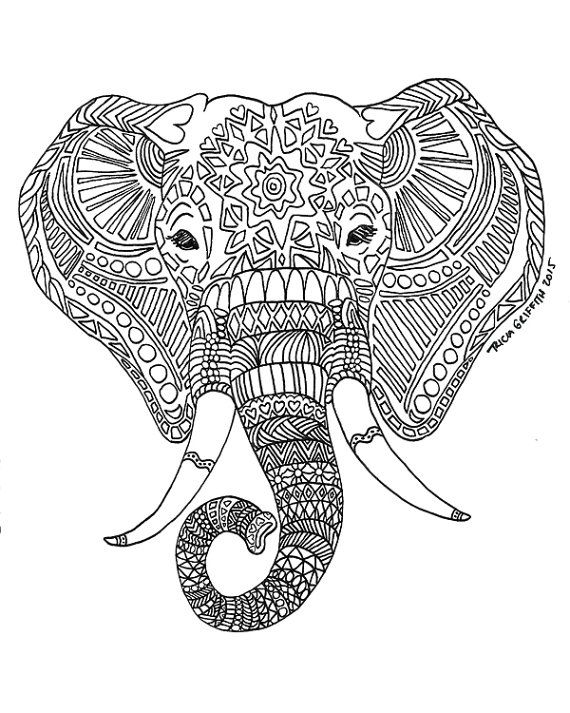 Adult ~ Printable Adult Coloring Pages Printable Elephant ...
