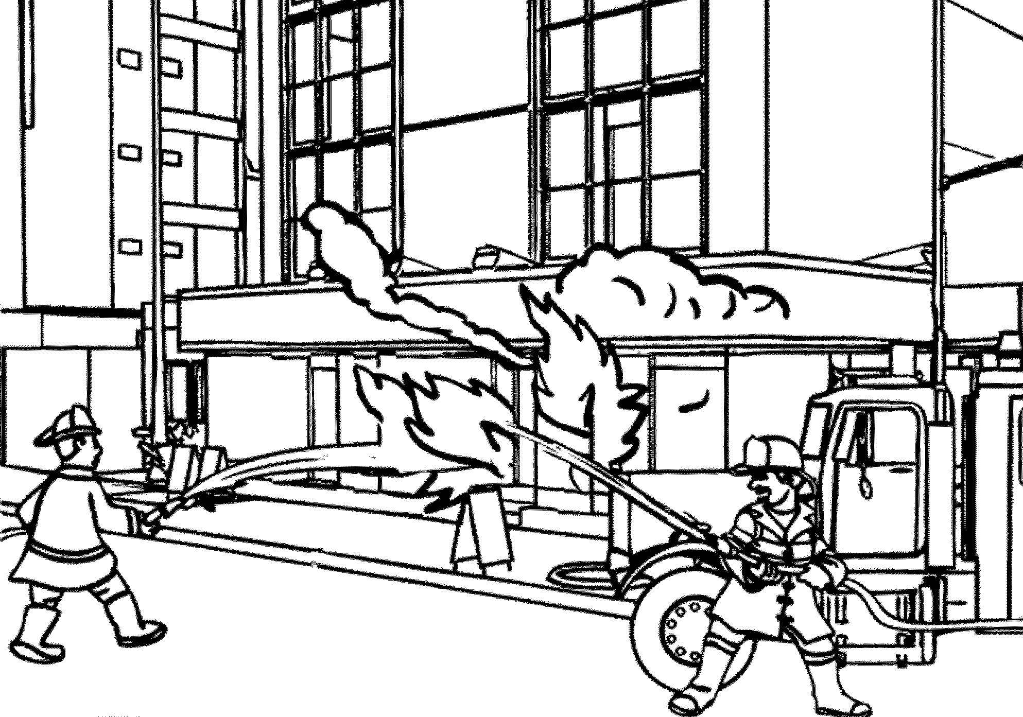 Free fire truck coloring pages coloring home for Free fire truck coloring pages to print
