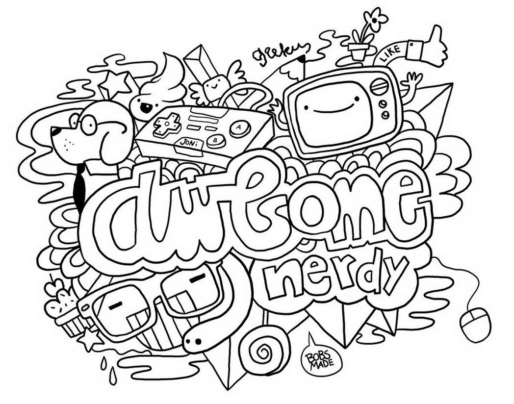 Free Doodle Art Coloring Pages Coloring Home