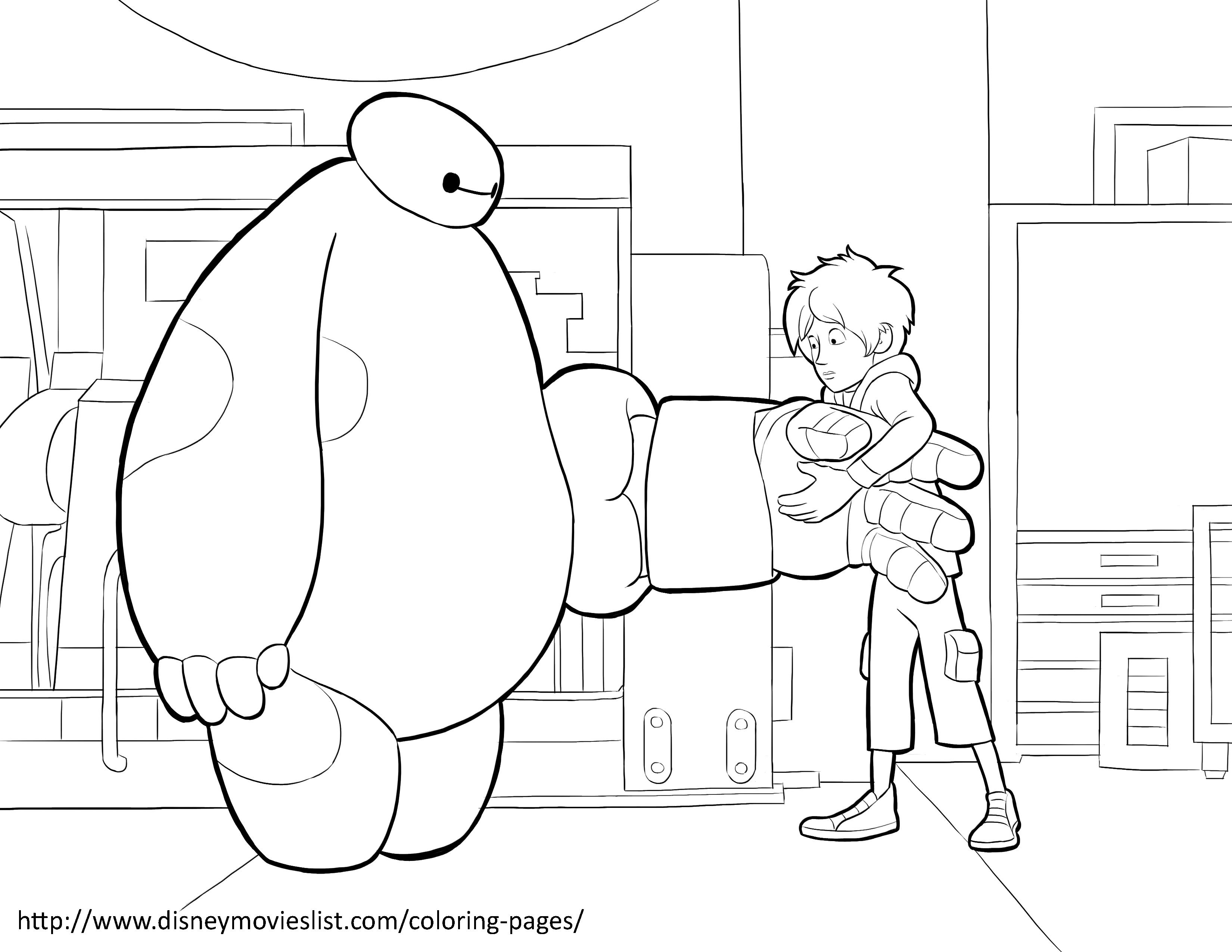 baymax coloring pages for kids - photo#22