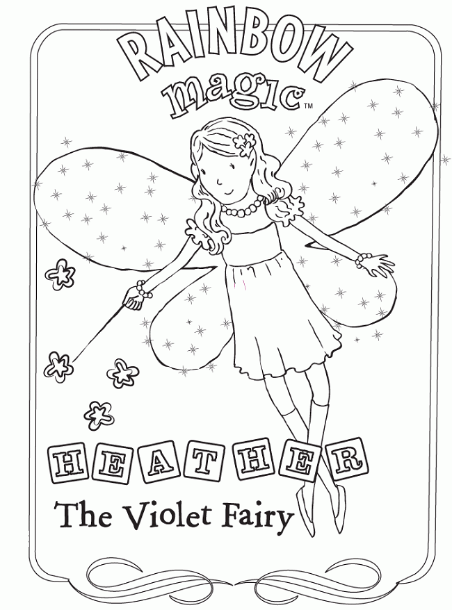 rainbow magic coloring pages | Fairy coloring, Rainbow fairies ...