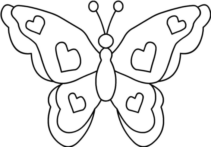 Simple Butterfly Coloring Pages GetColoringPagescom Coloring Home