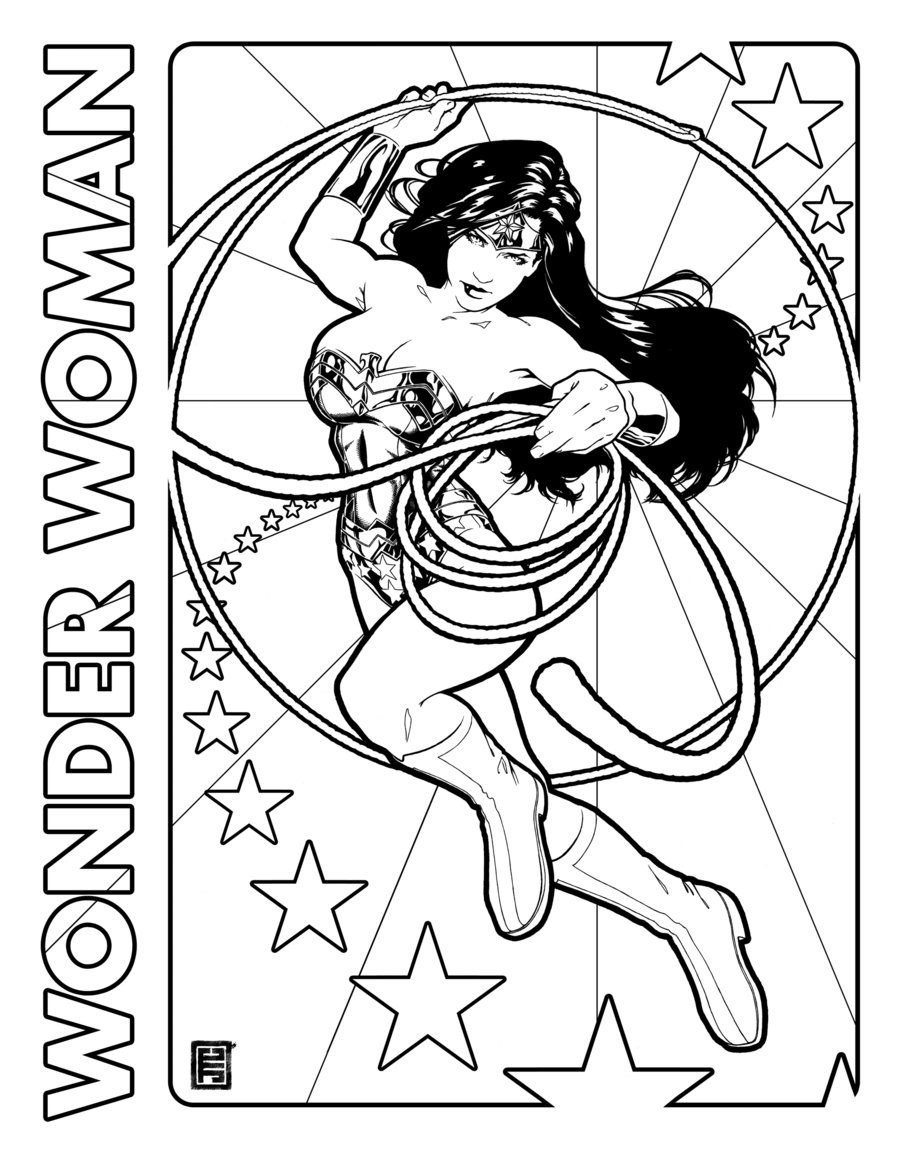 Wonder woman action clipart drawing black and white - ClipartFest