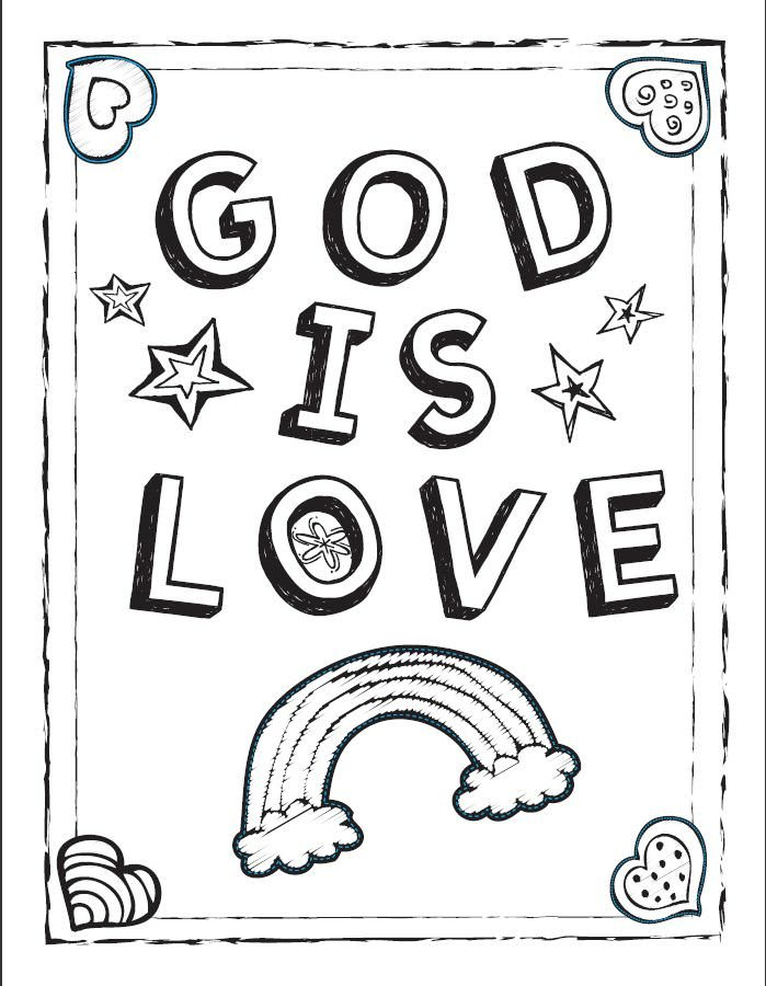 God Loves Me Coloring Page Auromascom Coloring Home
