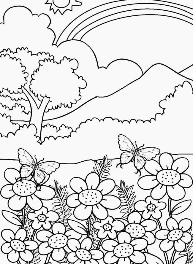 coloring pages for adults nature az coloring pages. Black Bedroom Furniture Sets. Home Design Ideas