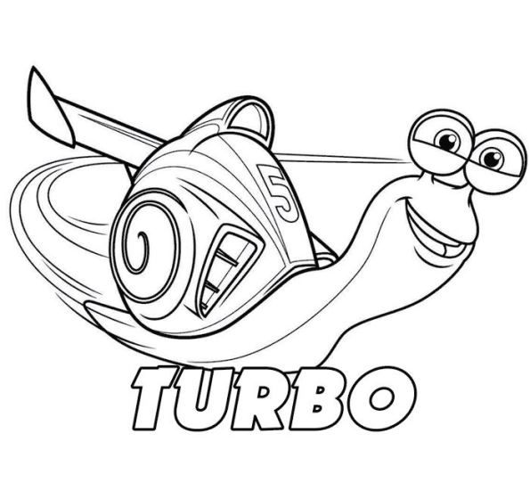 coloring page Turbo (Pixar) - Turbo | Cool coloring pages ...