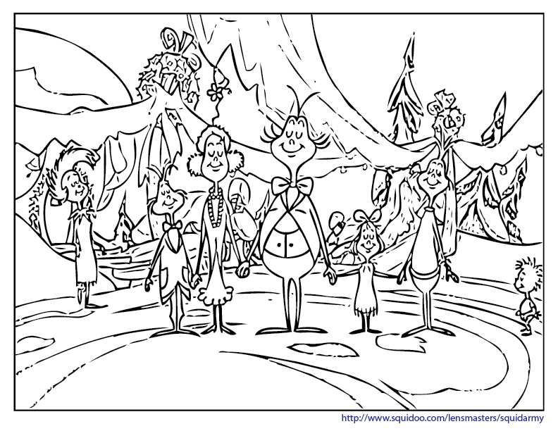 Whoville Characters Coloring Pages - Coloring Home