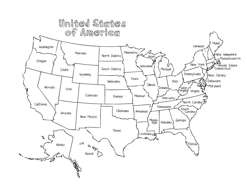 United States Coloring Pages - Coloring Home