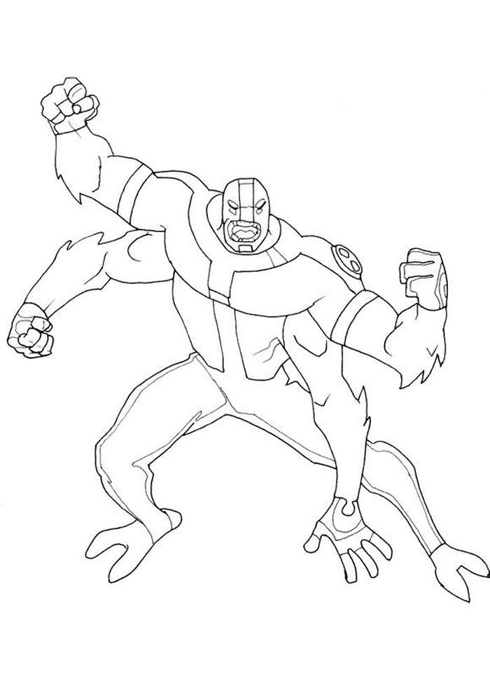 Ben 10 Four Arms Coloring Pages - Coloring Home