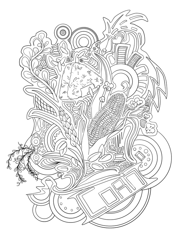 and Grains - Coloring Pages Series ...steemit.com