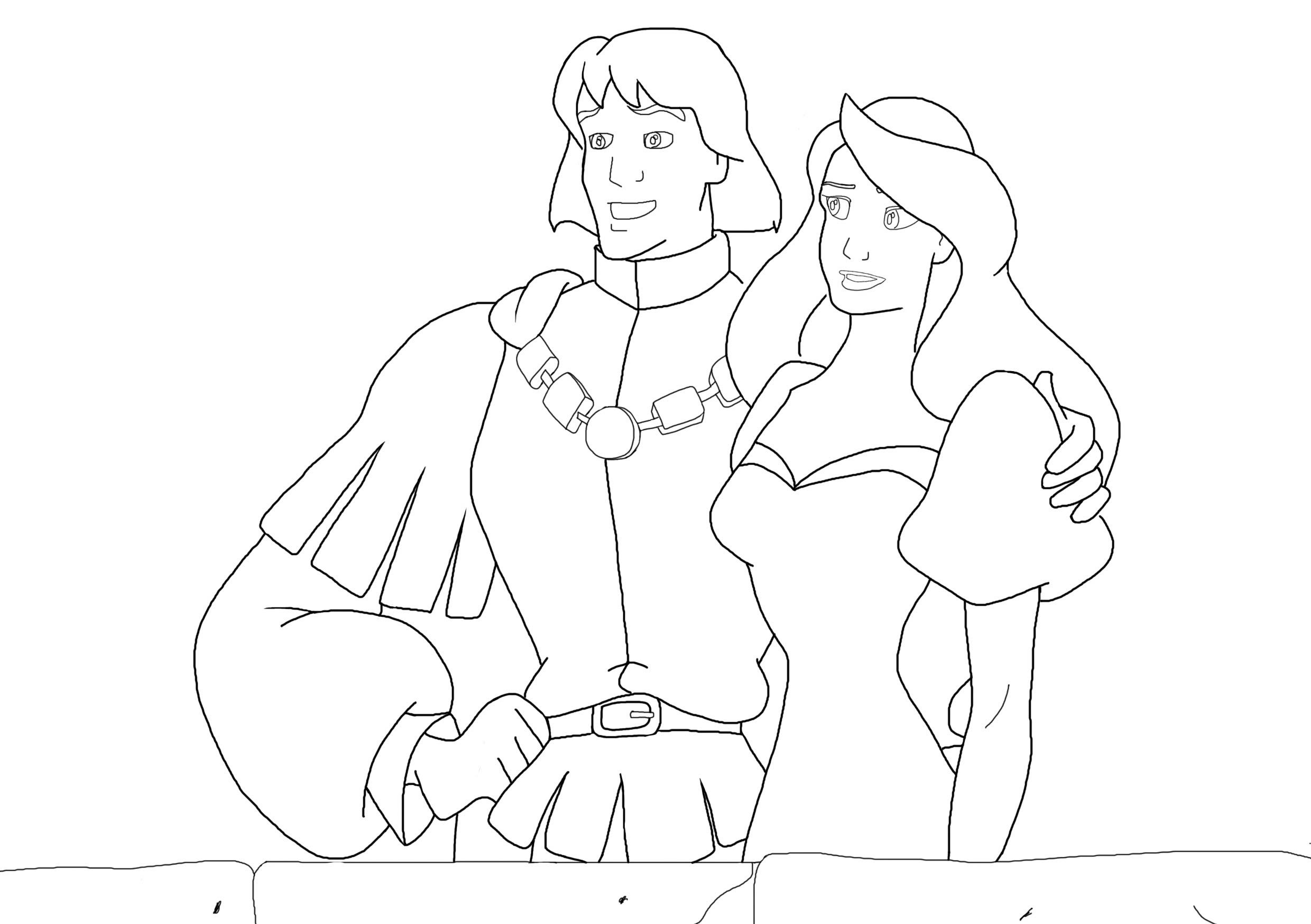 Swan princess coloring pages - Swan Princess Coloring Pages For Kids And For Adults