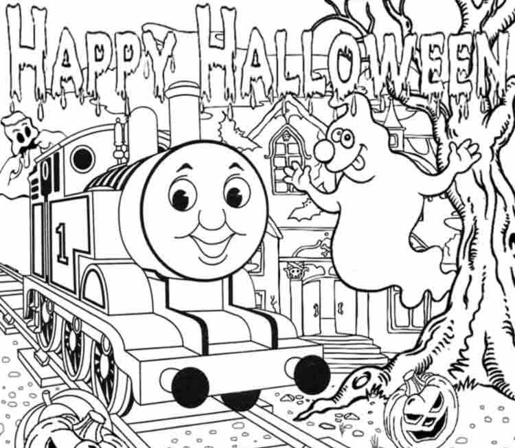 Easter Full Page Thomas The Train Coloring Pages