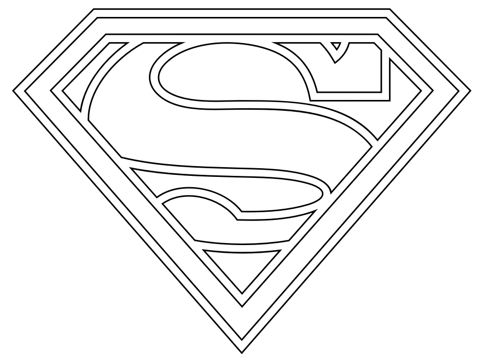 Superman Coloring Pages Glamorous Printable Superman Coloring Pages Kids  Colorine  #25546 .