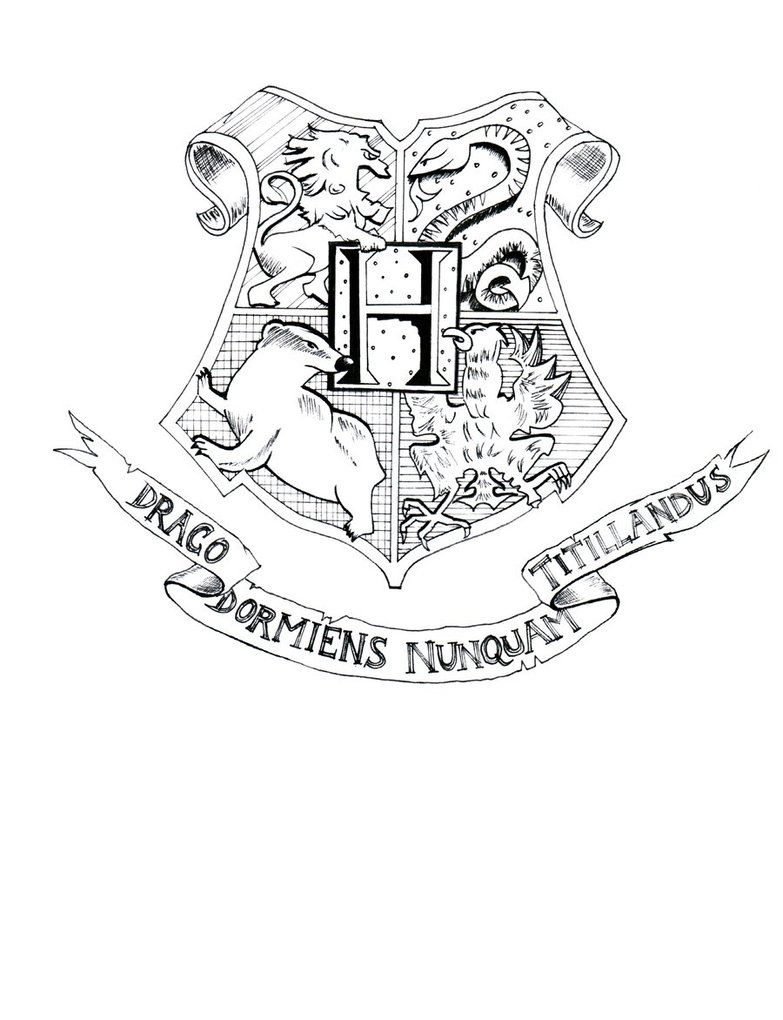 coloring pages crests harry potter - photo#26