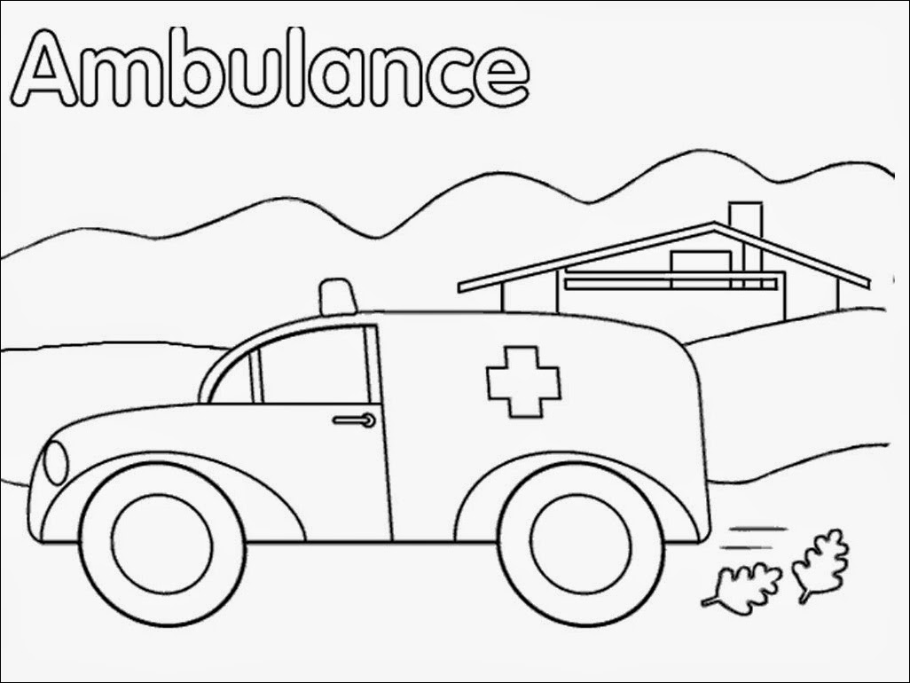 coloring pages ambulance - photo#12