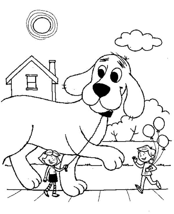 oh clifford puppy days coloring pages - photo #29