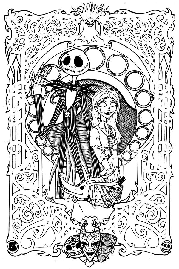 Nightmare Before Christmas Coloring Page