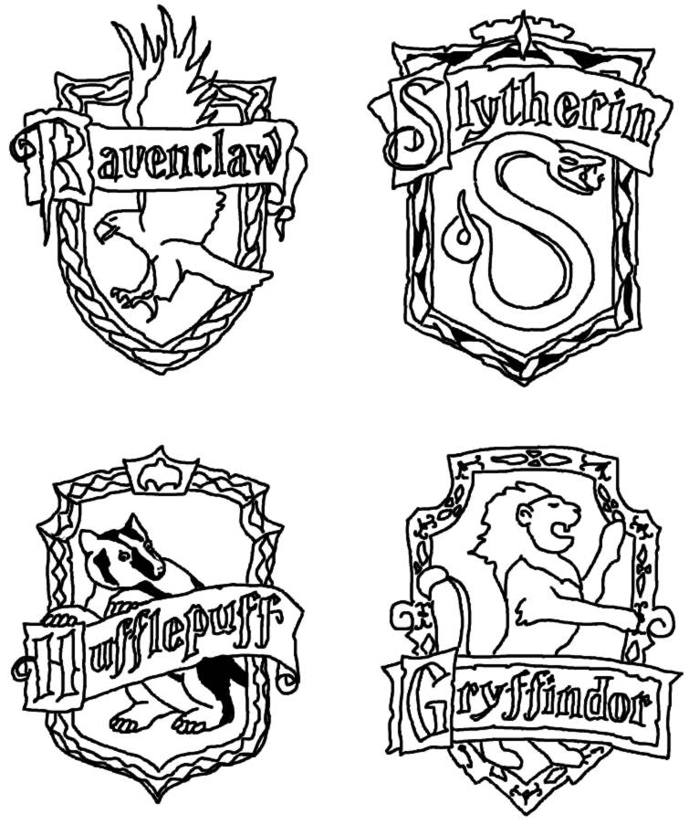 gryffindor crest coloring pages - photo#18