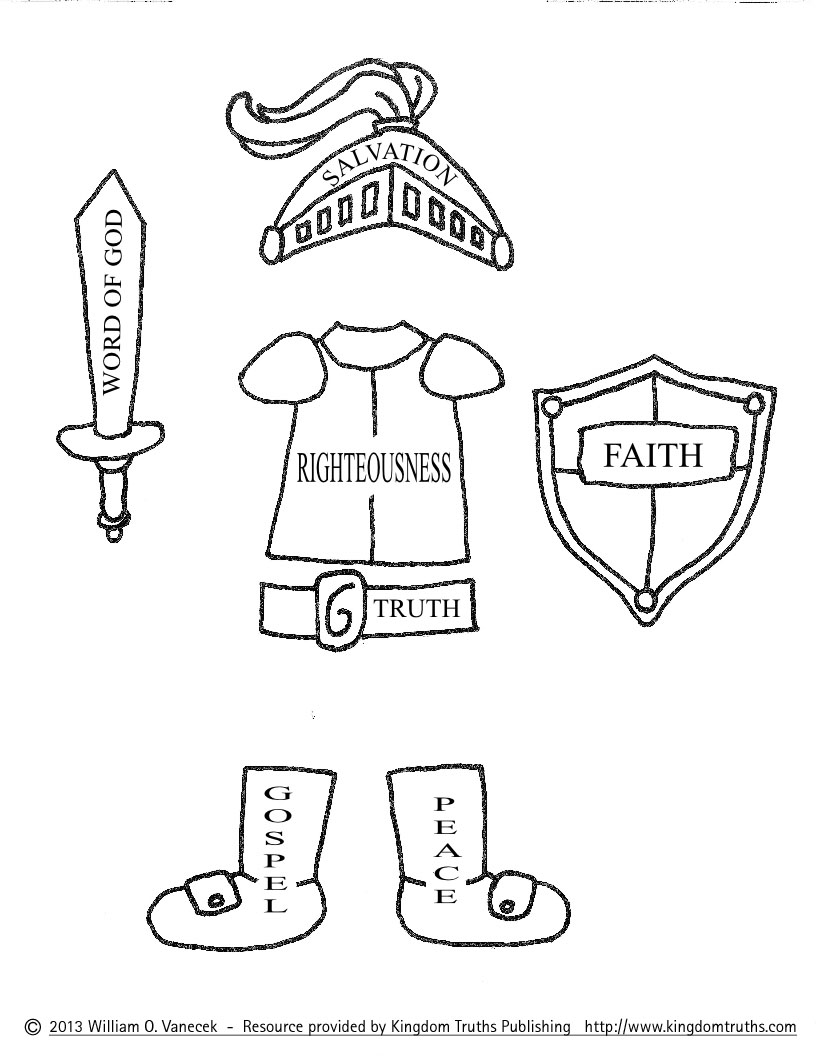 Armor Of God Coloring Pages - AZ Coloring Pages