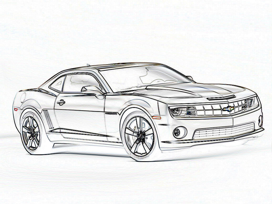 2010 camaro coloring pages