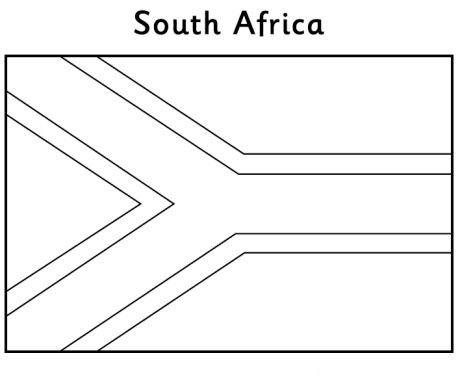 flag coloring pages africa - photo#42
