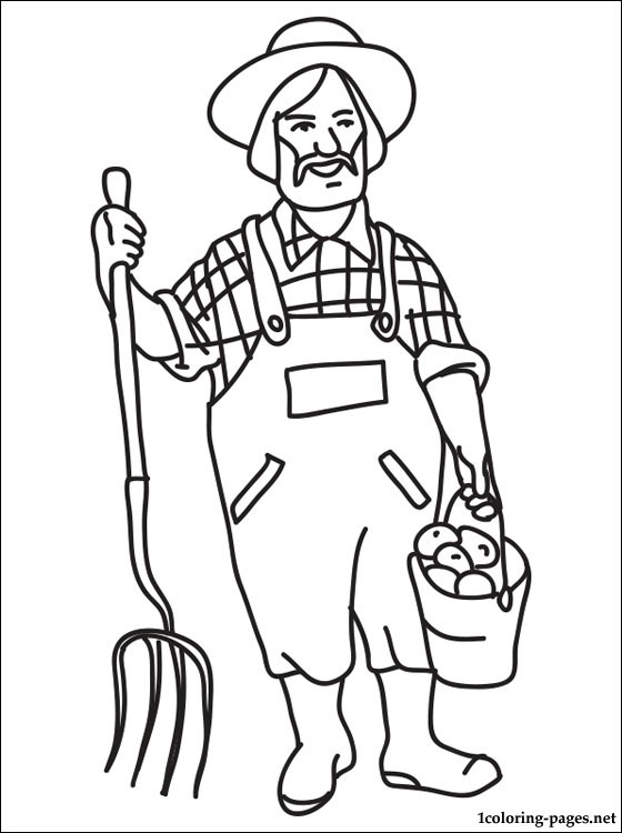 Line Drawing Jobs : Farmer in the dell coloring page home