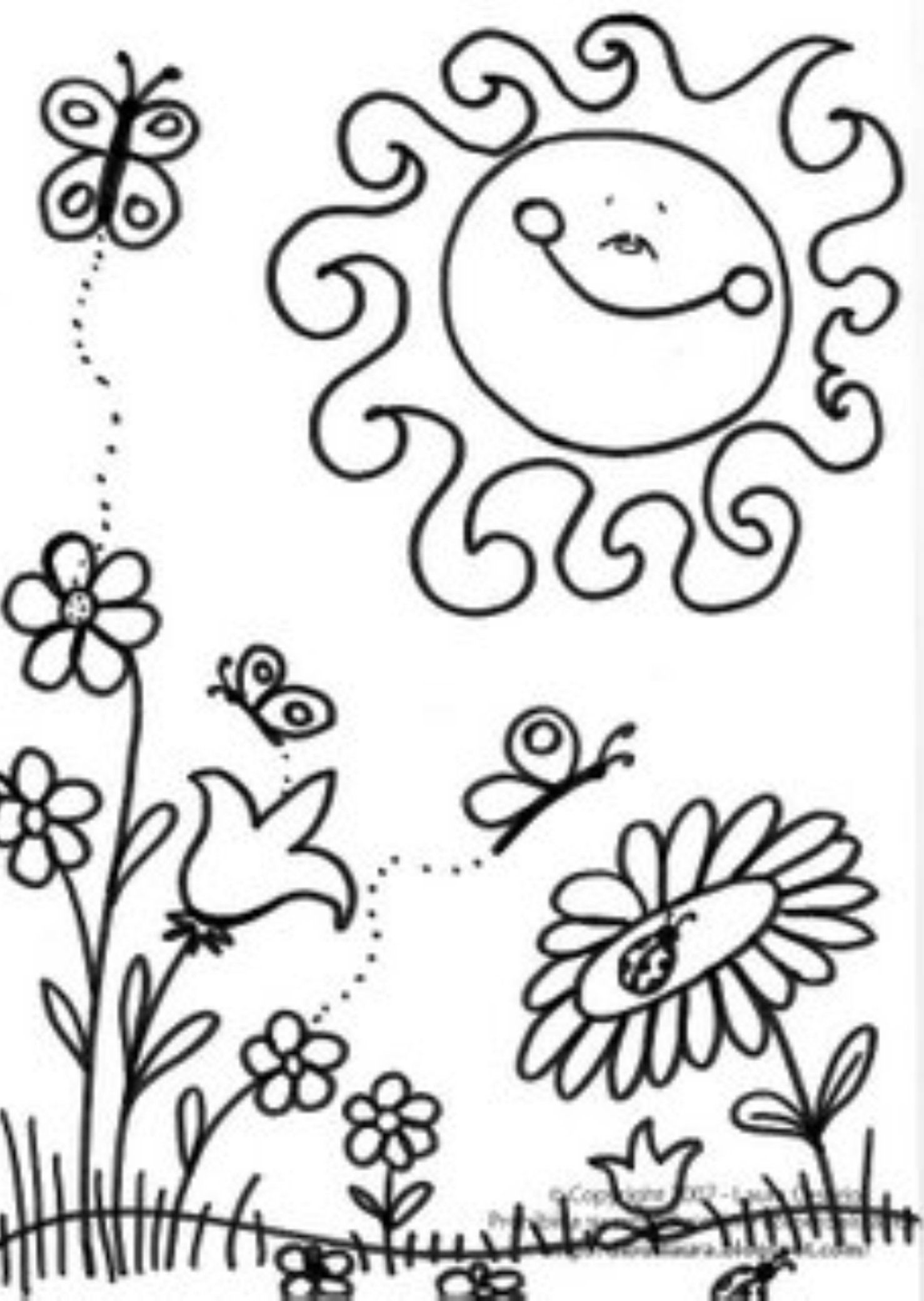 spring break coloring pages - photo#26