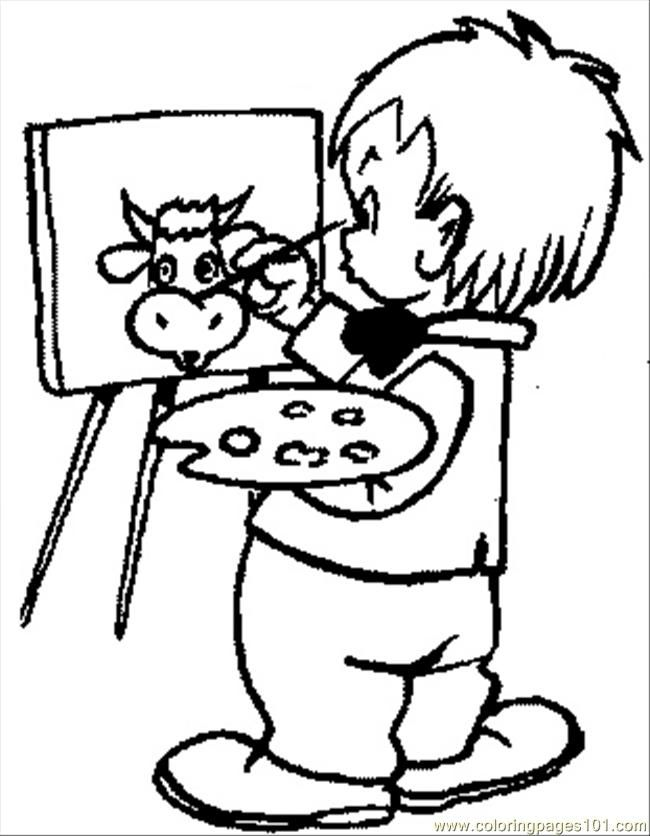 13 pics of artist painter coloring page painting art coloring - Paint Coloring Pages