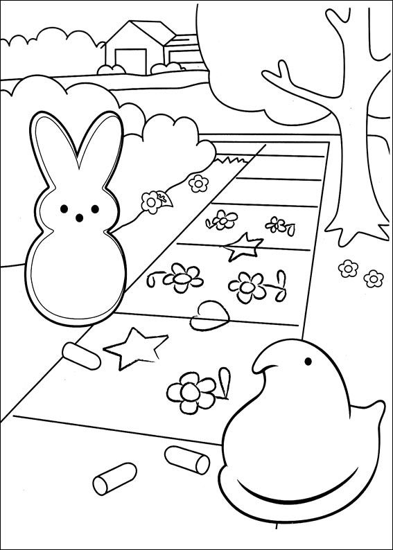 peeps coloring pages - photo#9