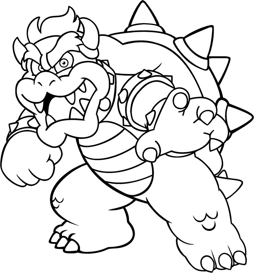 Bowser Jr Coloring Pages Printable - High Quality Coloring Pages