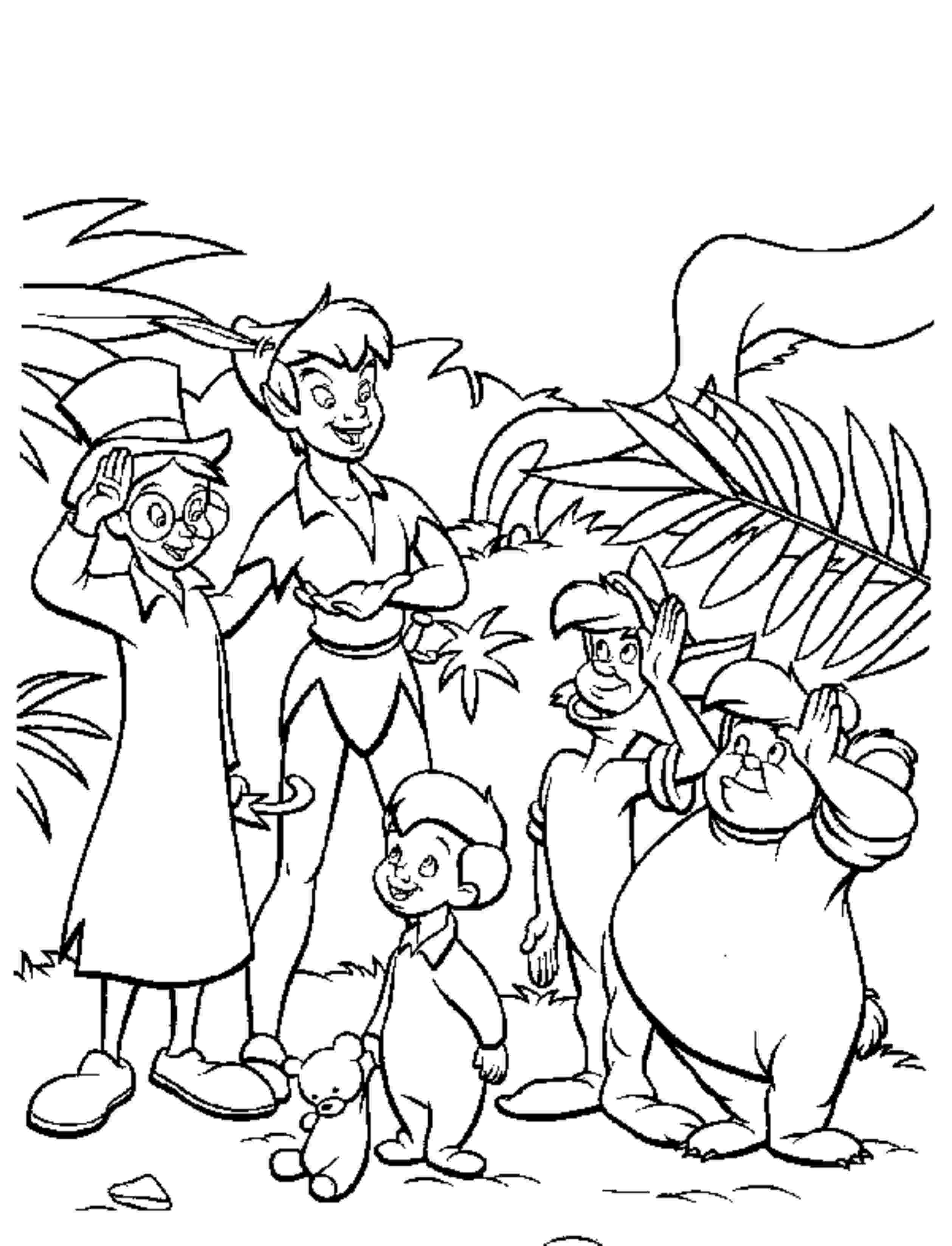 peter pan free coloring pages - photo#27